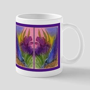 CROW and Iris Garden Mug