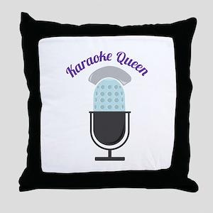 Karoke Queen Throw Pillow