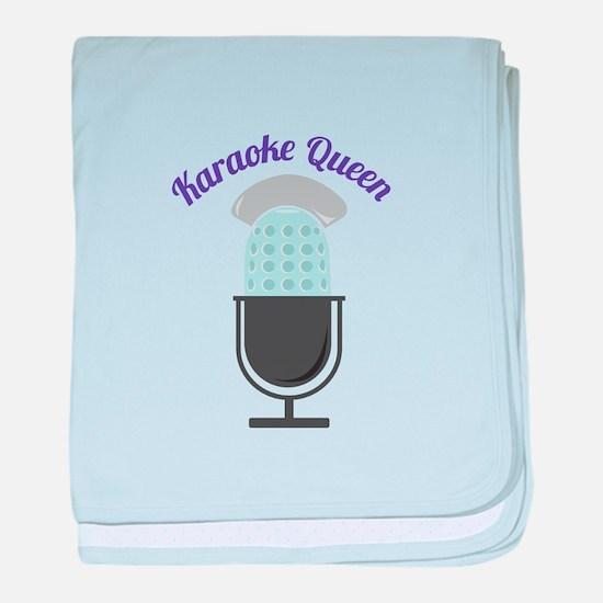 Karoke Queen baby blanket