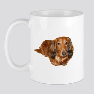 Long Hair Red Dachshund Mug