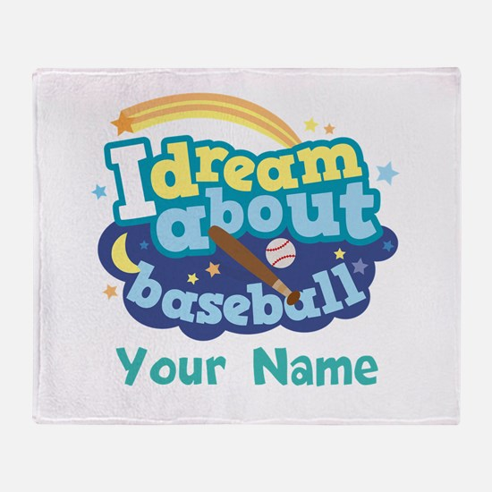 Baseball Gift personalized Throw Blanket