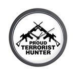 Proud Terrorist Hunter Wall Clock