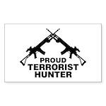 Proud Terrorist Hunter Rectangle Sticker