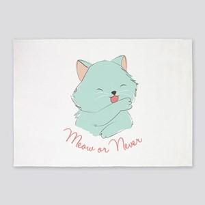 Meow Or Never 5'x7'Area Rug