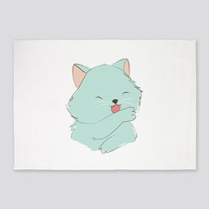 Cute Kitten 5'x7'Area Rug