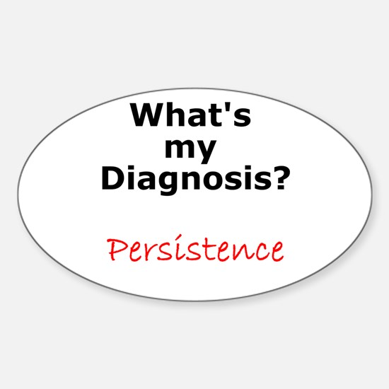 Persistence Oval Decal