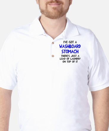 Washboard Stomach Laundry Golf Shirt