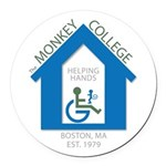 The Monkey College Round Car Magnet