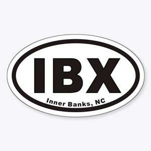 IBXovals20103x5blackwhite Sticker