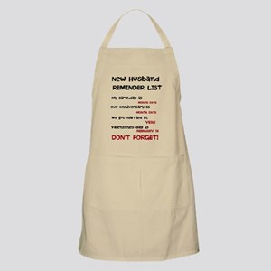 New Husband Don't Forget Dates Apron