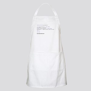 If Stupid_Question = True BBQ Apron