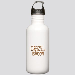 Crazy About Bacon Stainless Water Bottle 1.0L