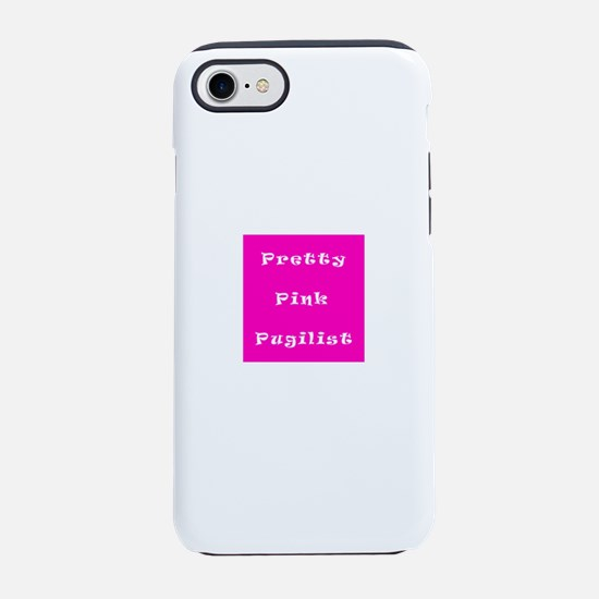 Pretty Pink Pugilist Breast Ca iPhone 7 Tough Case