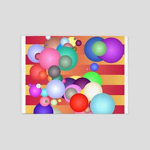 Balls on stripes 5'x7'Area Rug
