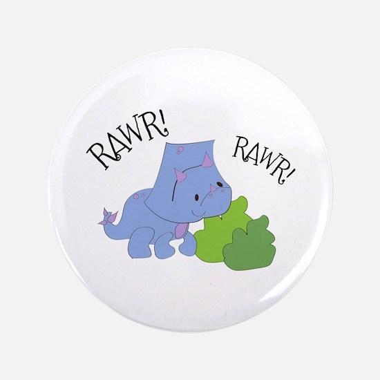 "Rawr Dinosaur 3.5"" Button"