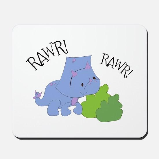 Rawr Dinosaur Mousepad