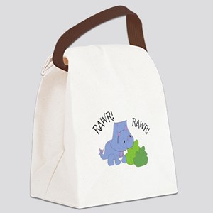 Rawr Dinosaur Canvas Lunch Bag