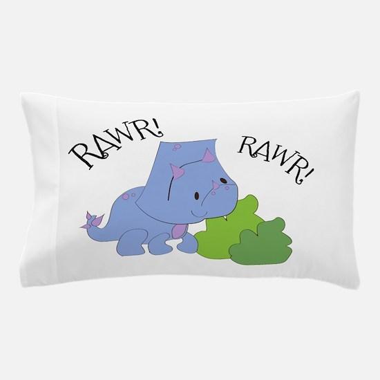Rawr Dinosaur Pillow Case