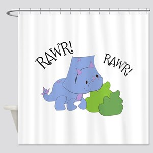 Rawr Dinosaur Shower Curtain