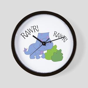 Rawr Dinosaur Wall Clock