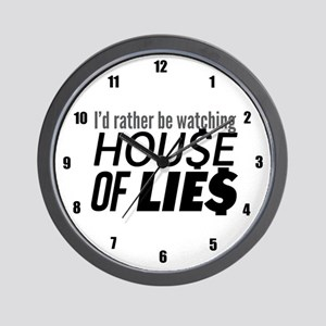 House of Lies Wall Clock