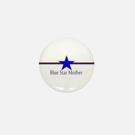 Unique Blue star Mini Button