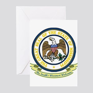 Mississippi Seal Greeting Cards