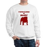 Showing Bulldog Red Sweatshirt