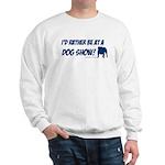 Dog Show Bulldog Blue Sweatshirt