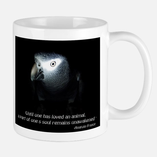 Timneh African Grey with Quote Mugs