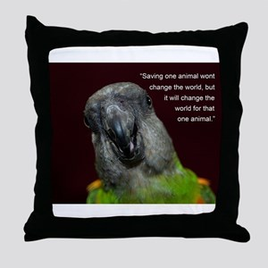 Senegal with Quote Throw Pillow