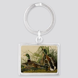 Audubon Mallard duck Bird Vintage Print Keychains