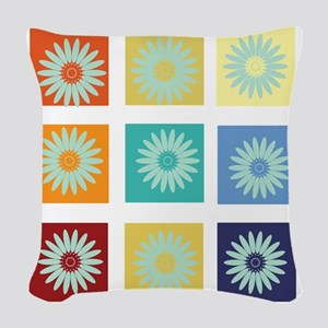 My Bright Photo Gallery Woven Throw Pillow