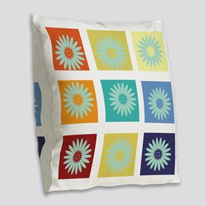 My Bright Photo Gallery Burlap Throw Pillow