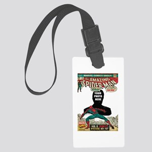 marvel comics personalized spide Large Luggage Tag