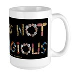 PTSD Is NOT Contagious Large Mug