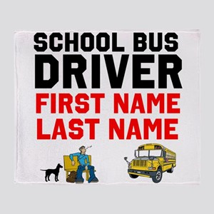 School Bus Driver Throw Blanket