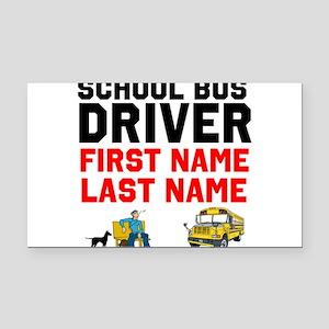 School Bus Driver Rectangle Car Magnet