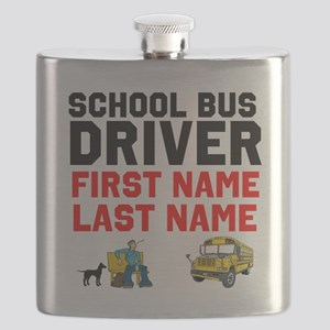 School Bus Driver Flask