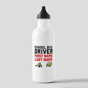 School Bus Driver Water Bottle