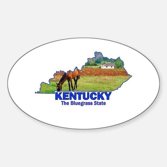 Kentucky . . . The Bluegrass Oval Decal