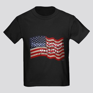 911 Never Forget American Flag Kids Dark T-Shirt