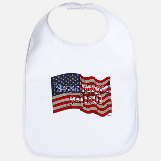 911 Never Forget American Flag Bib