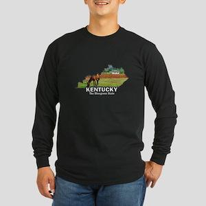 Kentucky . . . The Bluegrass Long Sleeve Dark T-S