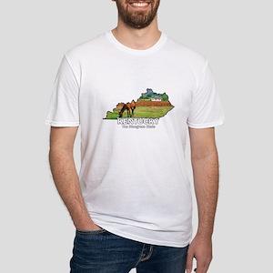 Kentucky . . . The Bluegrass Fitted T-Shirt