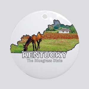 Kentucky . . . The Bluegrass Ornament (Round)