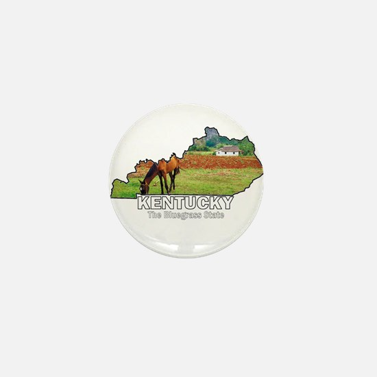 Kentucky . . . The Bluegrass Mini Button