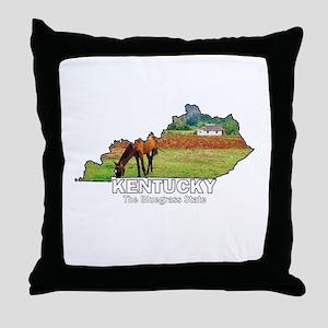 Kentucky . . . The Bluegrass Throw Pillow