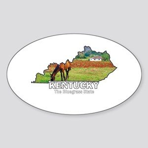 Kentucky . . . The Bluegrass Oval Sticker