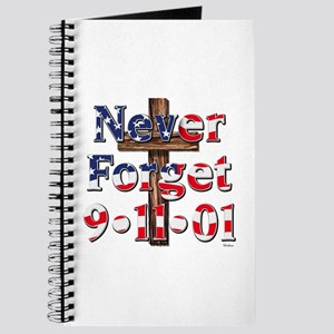 Never Forget 911 With Cross Journal